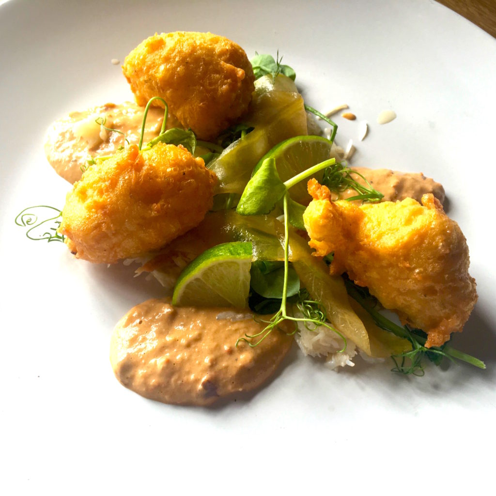 Looe Crab Fritters & Spiced Brown Meat Rouille 2016
