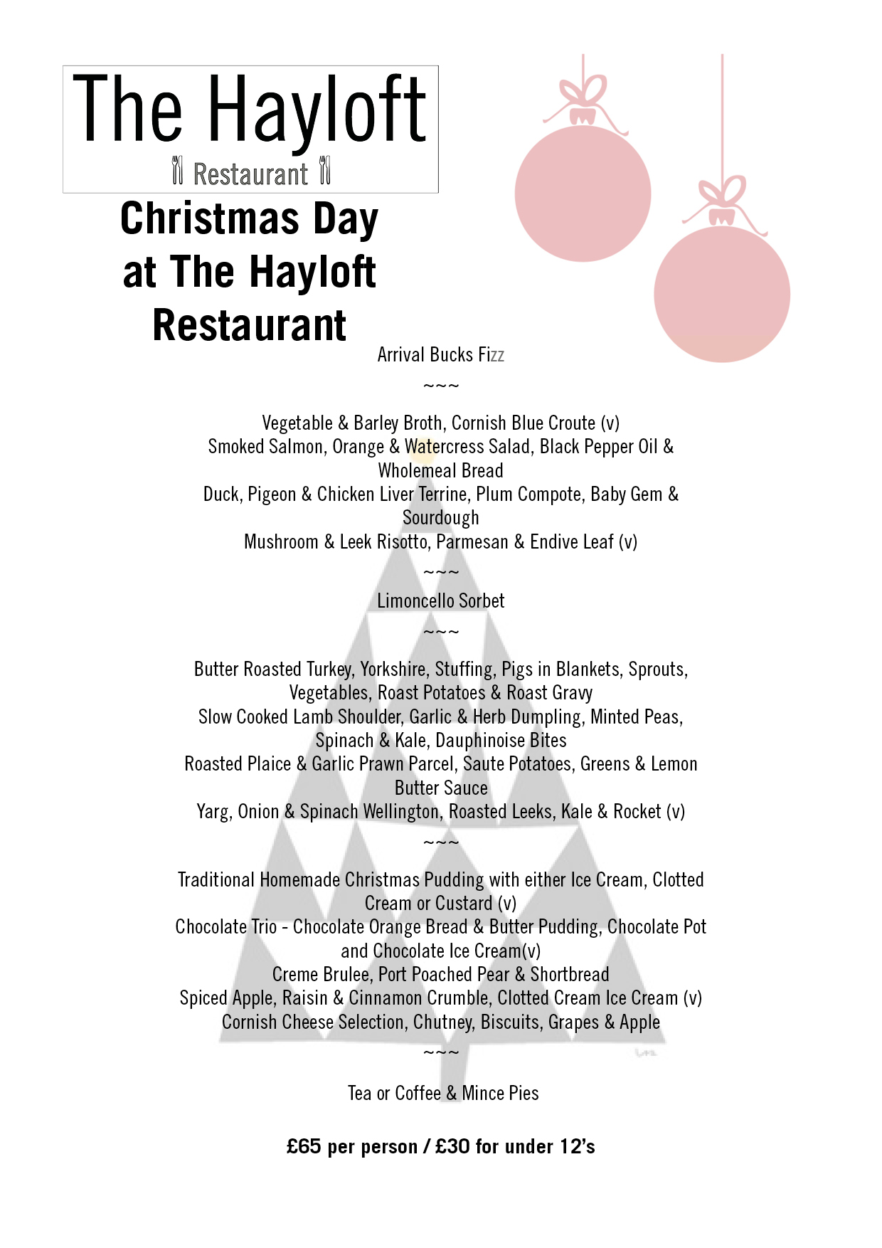 Christmas Day at The Hayloft 2018